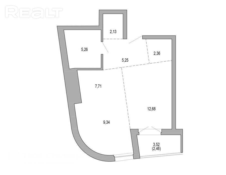 Продажа 2-х комнатной квартиры в г. Минске, просп. Мира, дом 1 (р-н Минск Мир (Minsk World)). Цена 179 685 руб