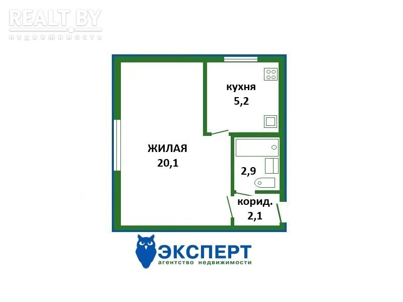 Продажа 1 комнатной квартиры, г. Минск, ул. Гикало, дом 22 (р-н Гикало, Золотая Горка). Цена 145 789 руб