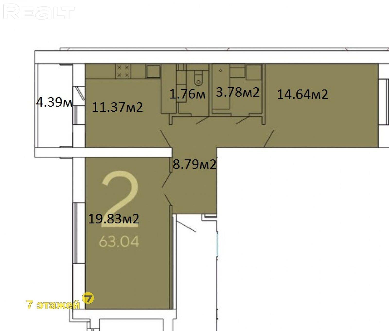 Продается 1 комнатная квартира, Смолевичи - фото №24