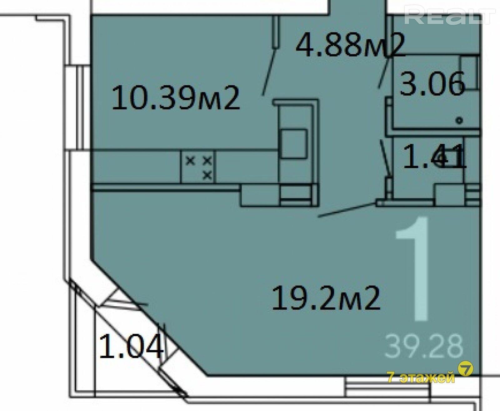 Продается 1 комнатная квартира, Смолевичи - фото №17