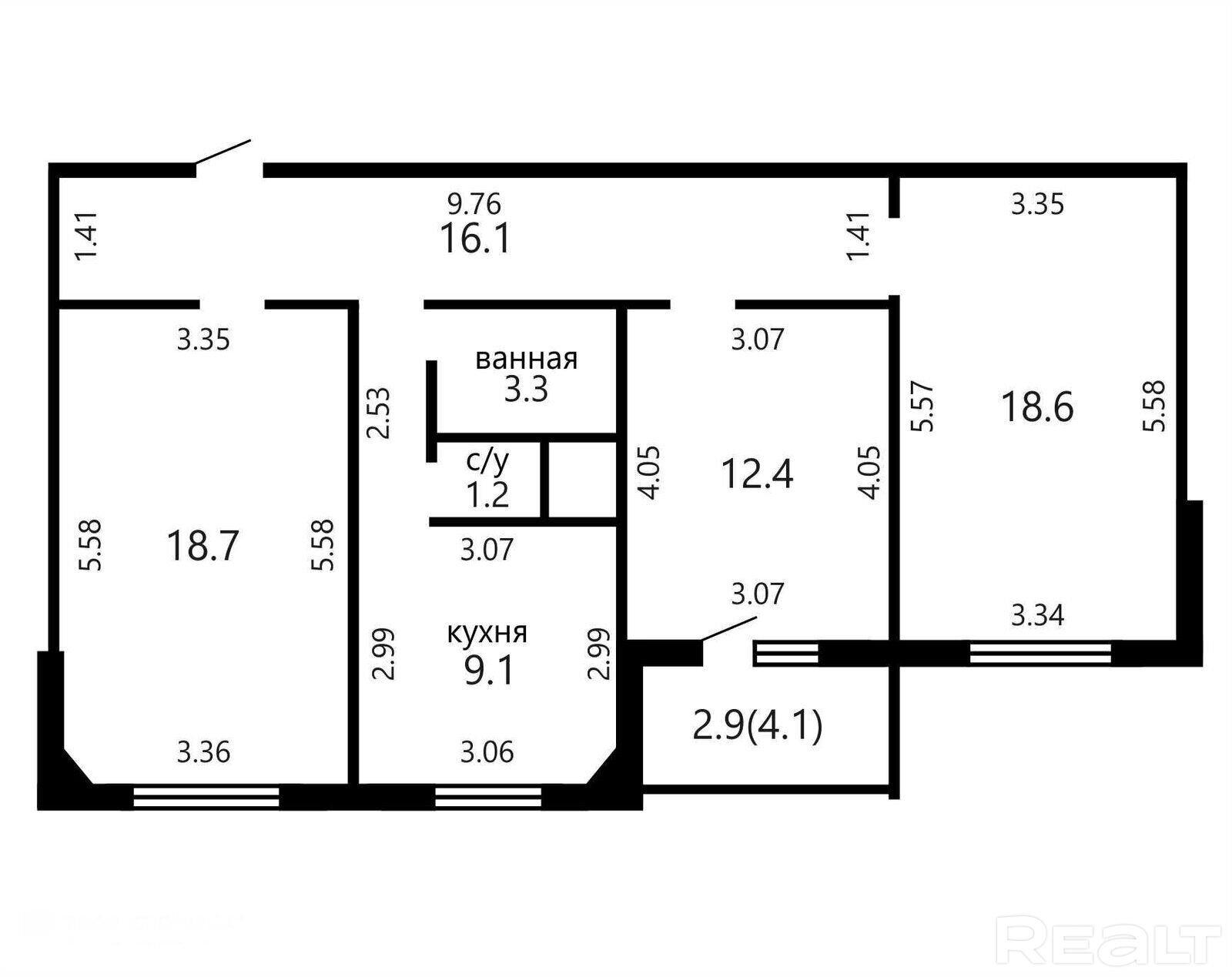 Продажа 3-х комнатной квартиры, г. Минск, ул. Ельских, дом 2 (р-н Михалово). Цена 229 972 руб