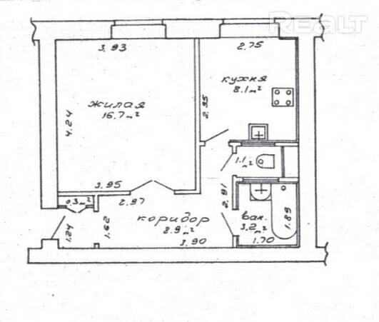Продажа 1 комнатной квартиры в г. Минске, ул. Грицевца, дом 4 (р-н Тракторный Завод). Цена 107 741 руб