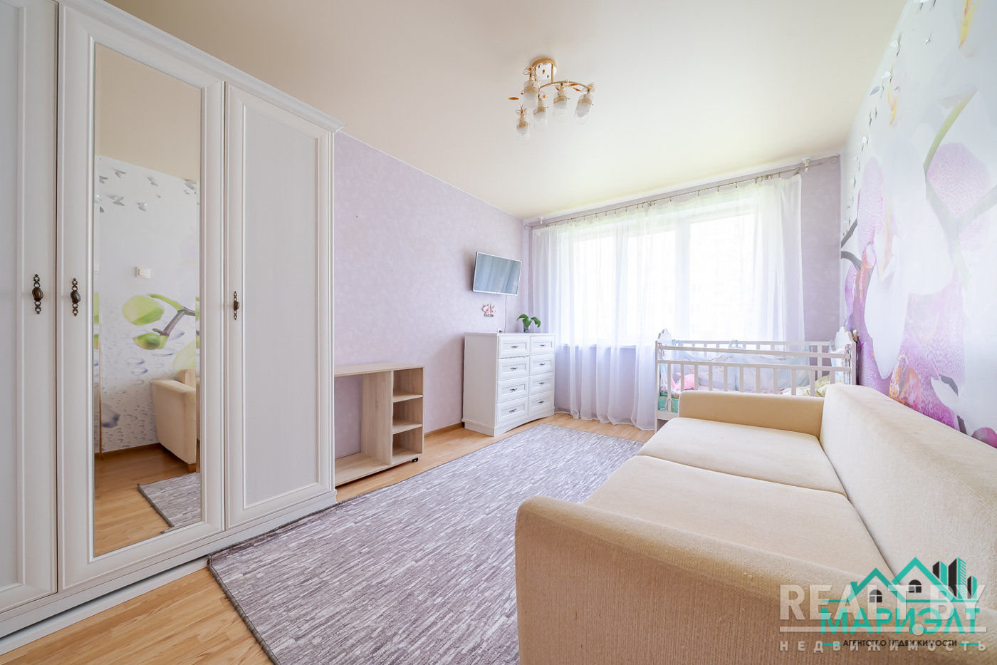 Уютная двухкомнатная квартира в зеленом районе Минска