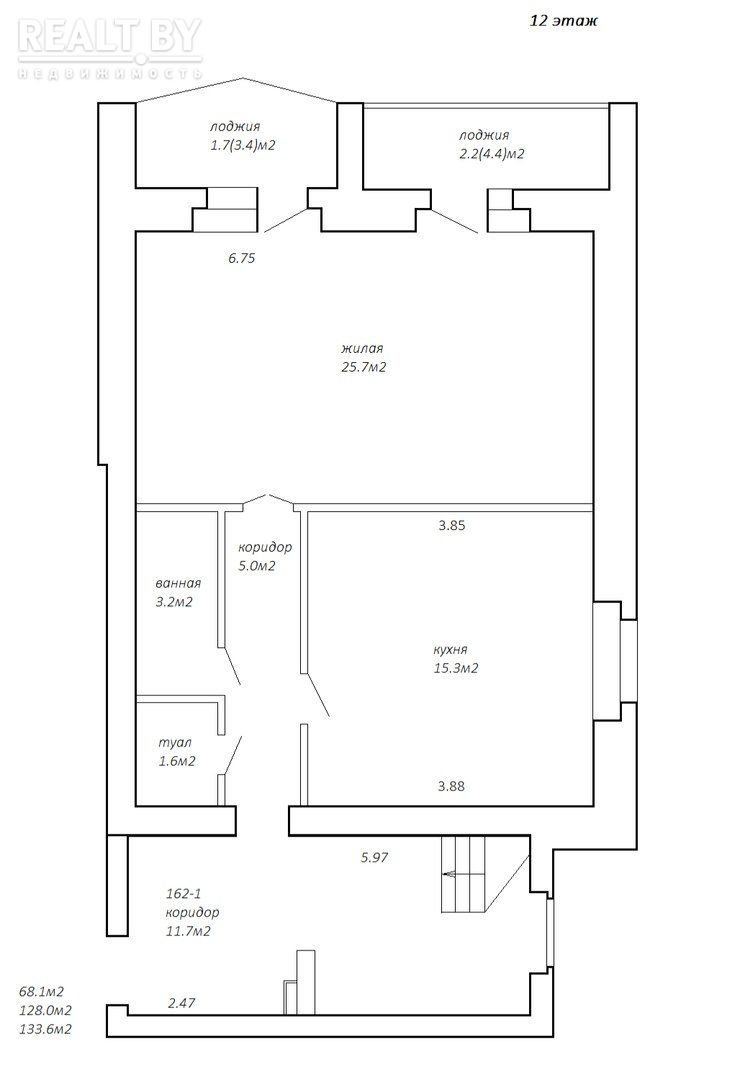 2-х уровневый пентахаус 134 м2, с ремонтом и мебелью. Кирпичный дом. Логойский тракт. Доступная цена