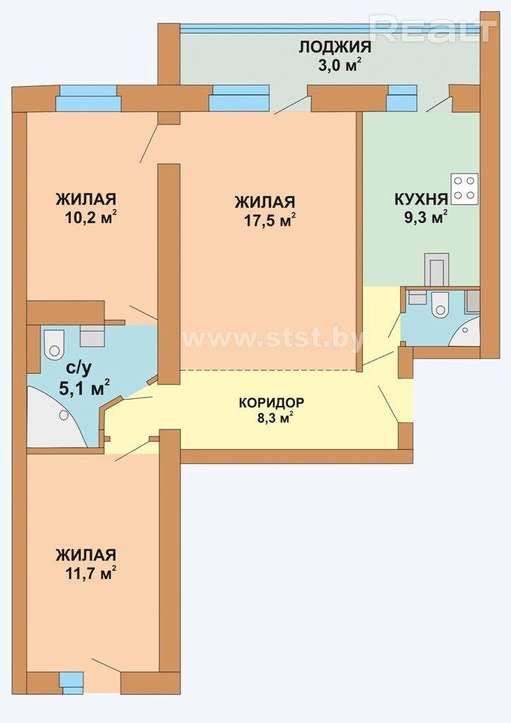 Продается 3-х комнатная квартира, ул. Сторожовская д.8 - фото №22