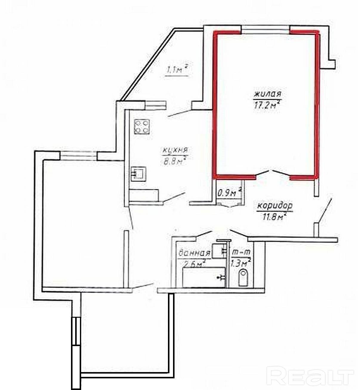 Продается комната в 3-х комнатной квартире, Гродно - фото №3