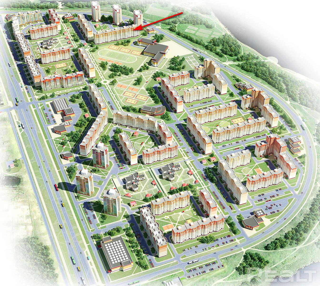 Продажа 3-х комнатной квартиры, г. Гомель, ул. Денисенко, дом 16 (р-н Шведская горка). Цена 131 493 руб