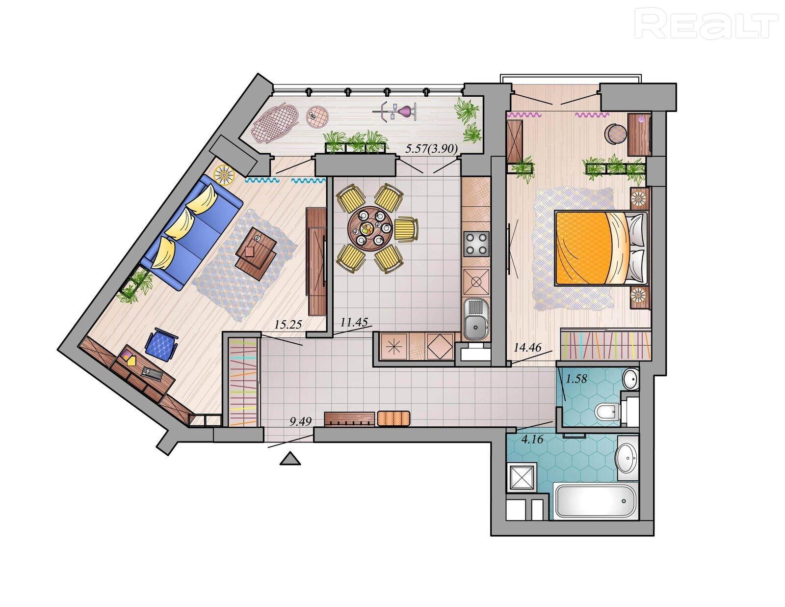 Двухкомнатные квартиры в МК Фарфоровый!