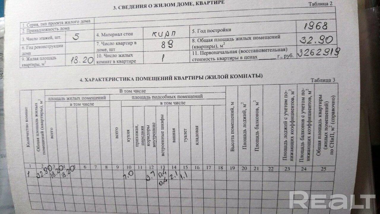 Продажа 1 комнатной квартиры в г. Гомеле, ул. Жукова, дом 34 (р-н Фестивальный). Цена 46 316 руб