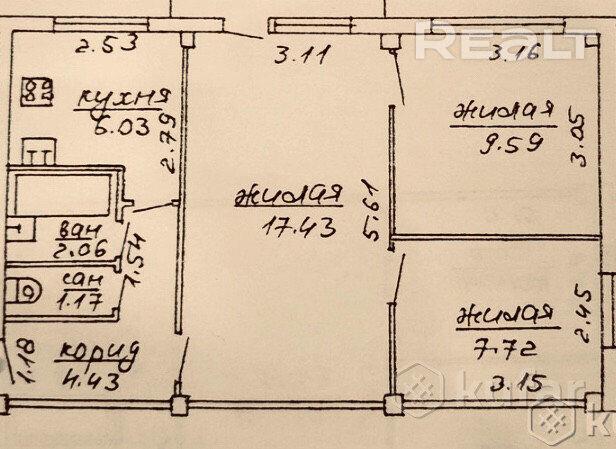 Продажа 3-х комнатной квартиры, г. Могилев, ул. Калиновского (р-н Фестивальный). Цена 65 354 руб c торгом