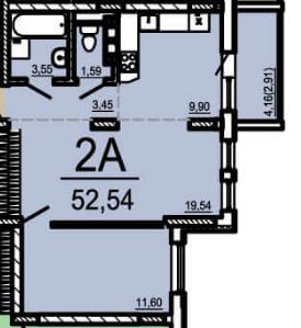 """Продам 2 комнатную квартиру , ул.Р.Люксембург, ЖК """"Матвеевский"""""""