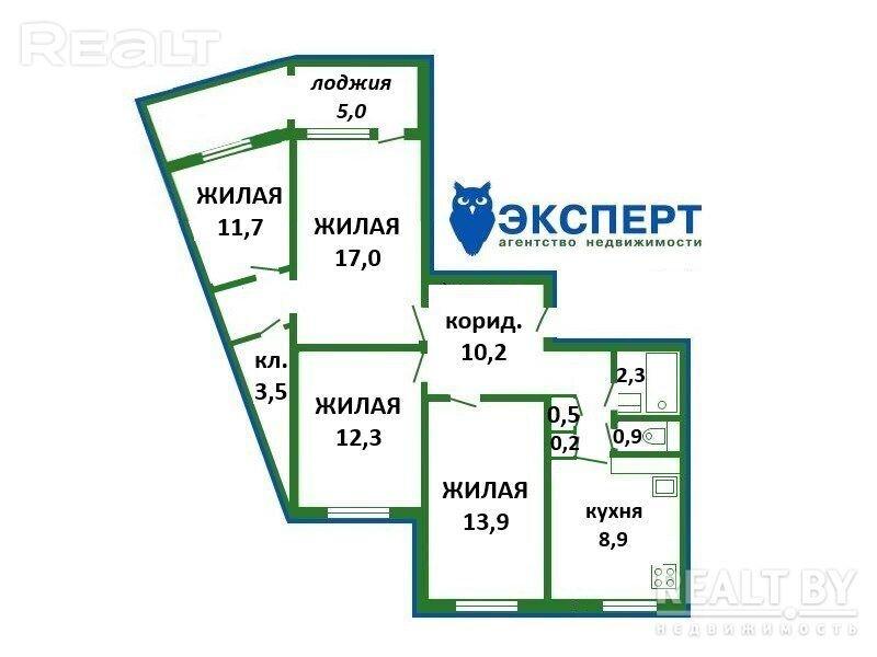 Продается 4-х комнатная квартира, ул. Лынькова д.15-В - фото №28