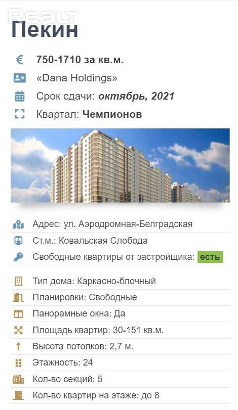 Продажа 2-х комнатной квартиры, г. Минск, ул. Белградская, дом 1 (р-н Минск Мир (Minsk World)). Цена 164 530 руб